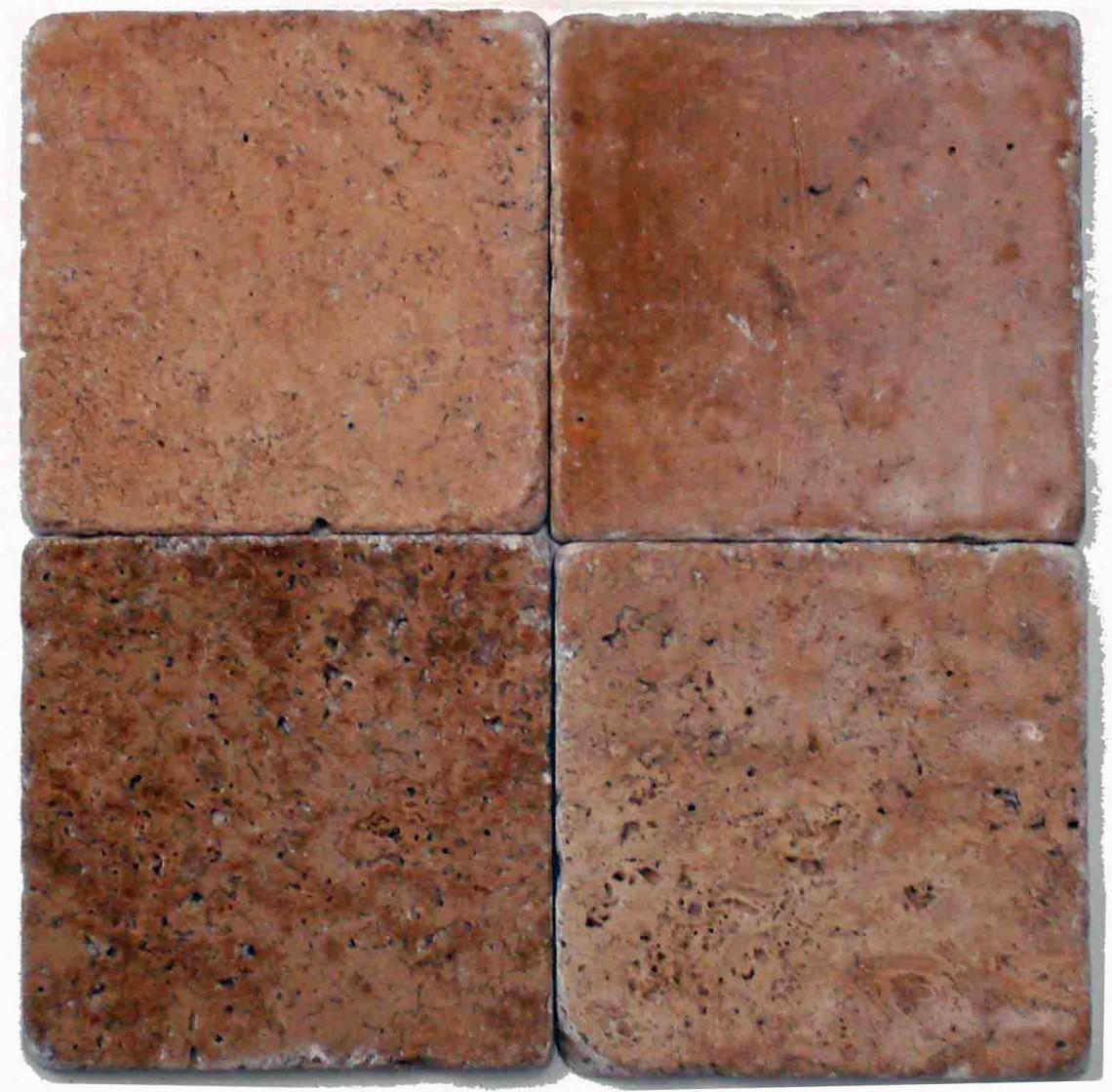 Noce tile backsplash