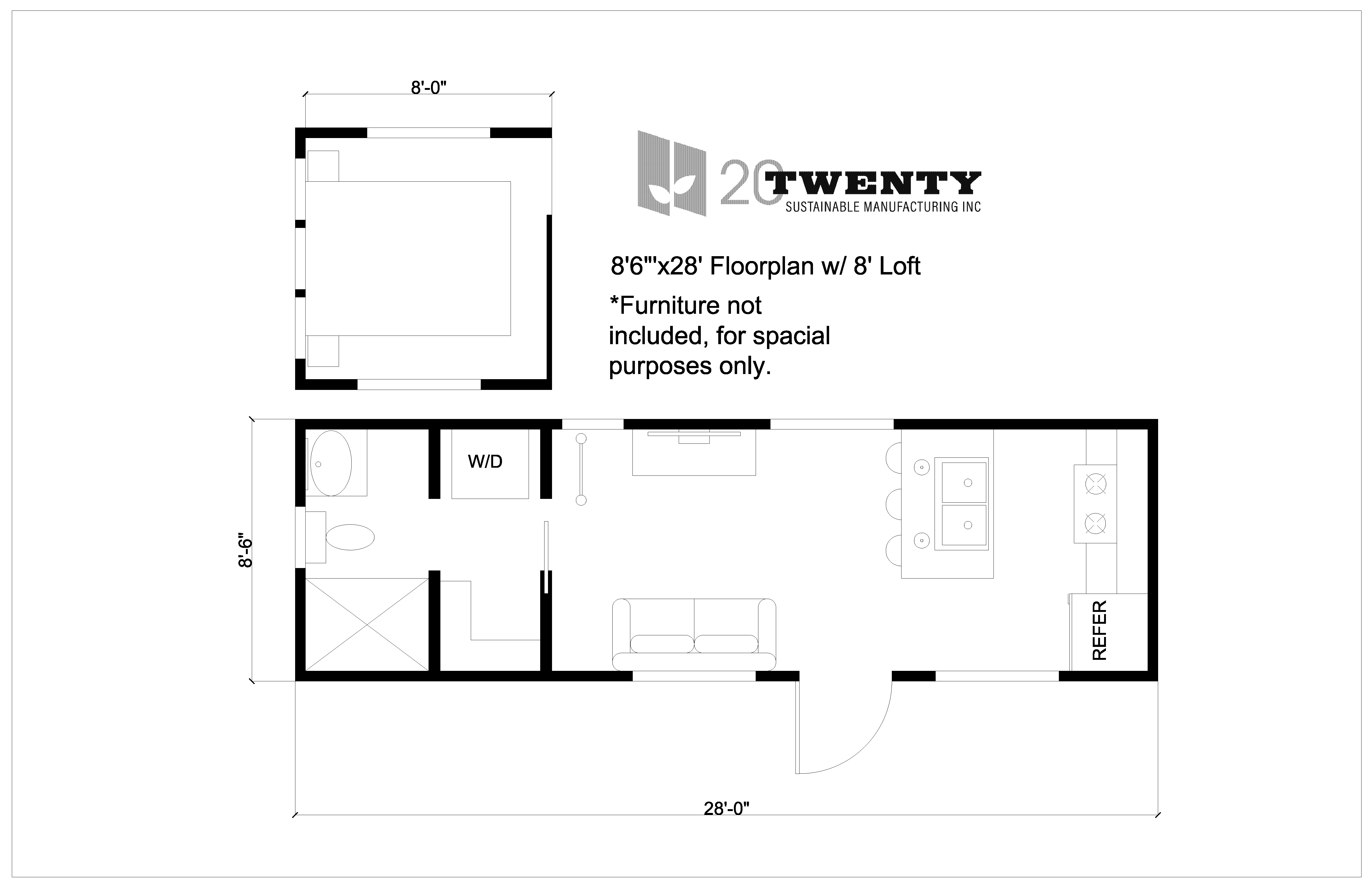 Tiny Home 8'6x28'