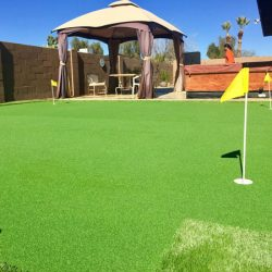 Backyard putting green made with waterless grass in Phoenix by 21st Century Grass