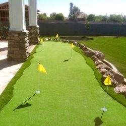 Artificial putting green turf in Phoenix yard by 21st Century Grass