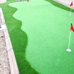 Artificial putting green in Phoenix backyard by 21st Century Grass