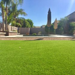 Synthetic grass in Phoenix backyard by 21st Century Grass