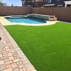 Fake grass by swimming pool in Phoenix by 21st Century Grass