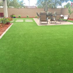 Synthetic lawn for backyard in Phoenix by 21st Century Grass