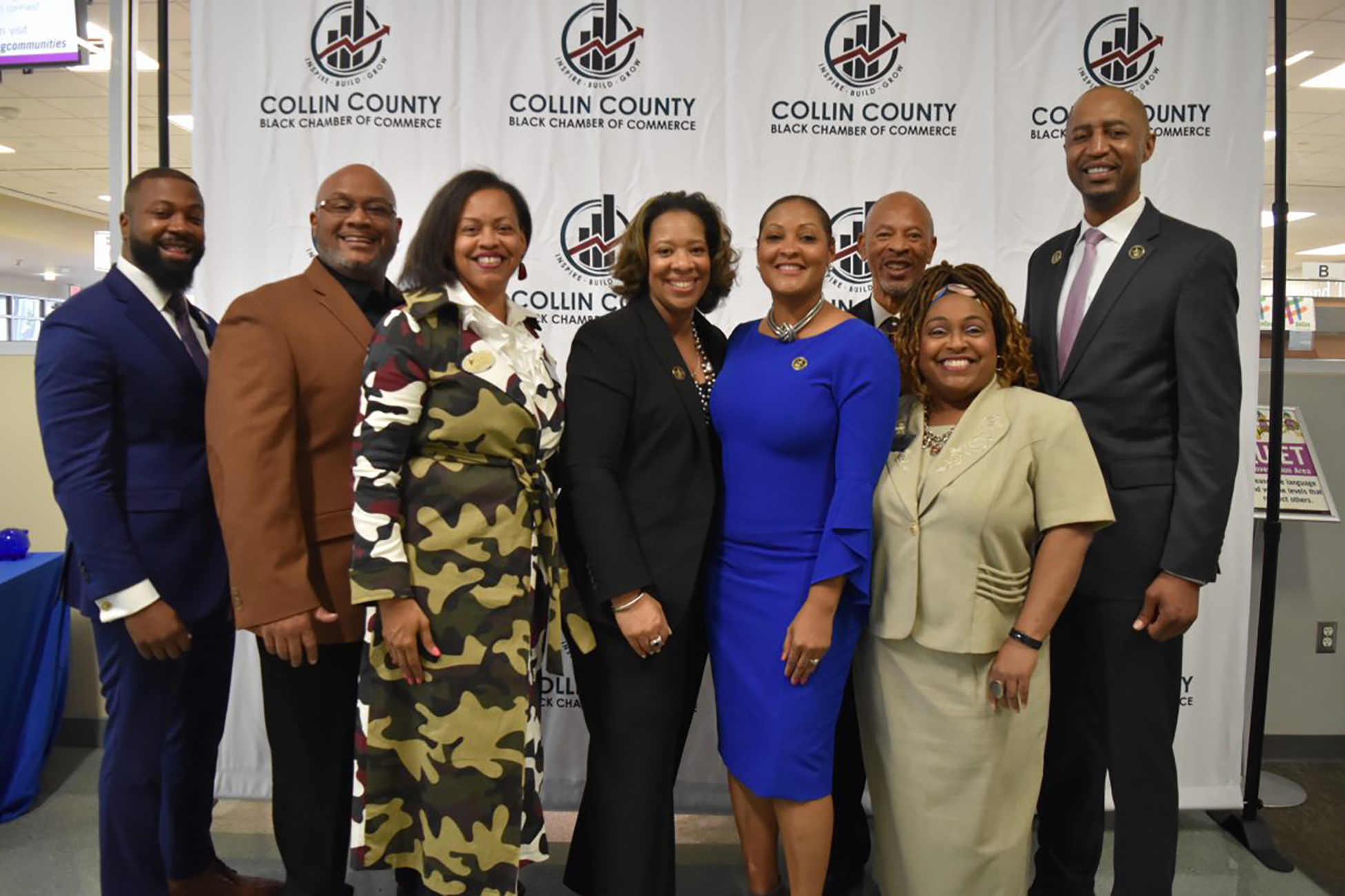 The Colin County Black Chamber of Commerce, group photo