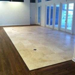 Combine tile and hardwood flooring when you choose 2 Day Flooring.
