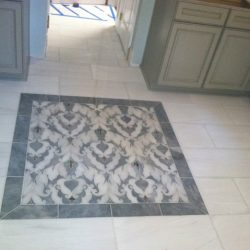 Incorporate a design into your tile when you hire 2 Day Flooring.