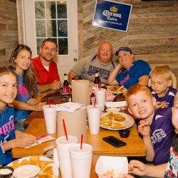 Families with kids at our local restaurant - The 4 Way Bar and Grill