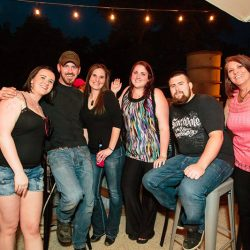 Group of friends on our patio at our bar and grill - The 4 Way Bar and Grill