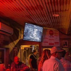 View of a TV in our bar and grill - The 4 Way Bar and Grill