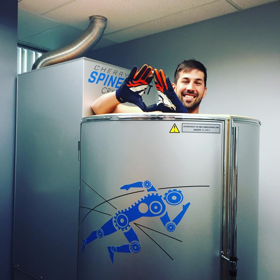 Kickers from Denver Broncos use cryotherapy