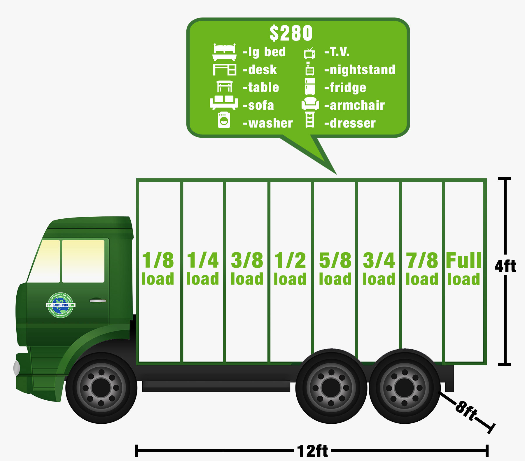 orange county junk hauling truck