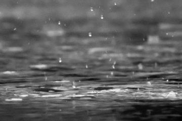 grey scale rain