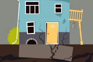 Small family house collapsing with foundation problems