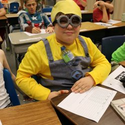 To celebrate Halloween, this child with autism dresses up at the Autism Academy.