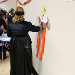 At the Autism Academy, children with autism participate in Halloween activities.