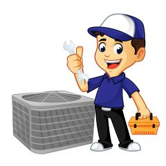 Cartoon AC Repairman
