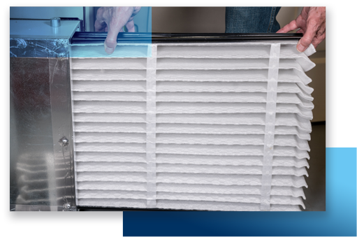 Air Filter Installation by HVAC Technician