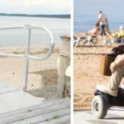 Wheelchair Ramp and Beach Scene