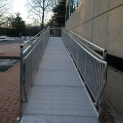 Entrance of Commercial Wheelchair Ramp