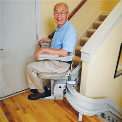 Elite Indoor Stairlift on Curved Rail System