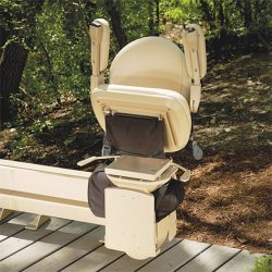 Outdoor Stairlift With Folded Chair