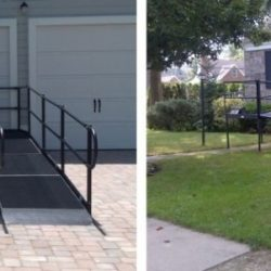 Steel Accessibility Ramps Side-by-Side