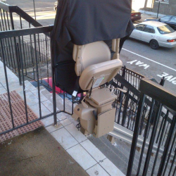 Straight Rail Stairlift With Seat Cover
