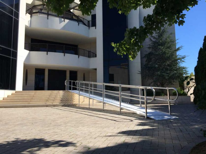 Commercial Wheelchair Ramp Leading to Building