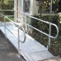 Wheelchair Ramp Next to Landscaping