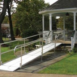 Metal Wheelchair Ramp Leading to Gazebo