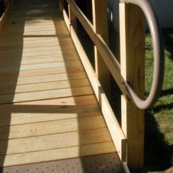 Base of Wooden Wheelchair Ramp
