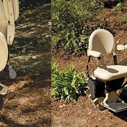Folding Outdoor Stairlift