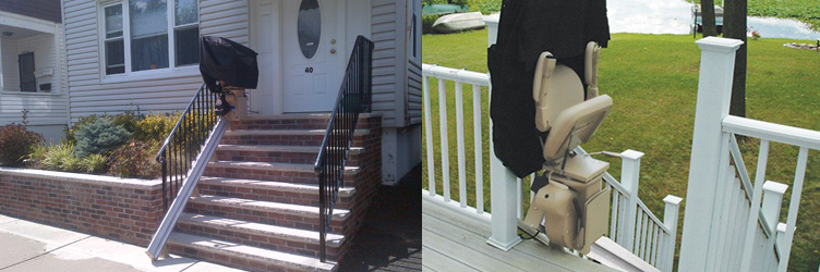 Straight Rail Outdoor Stairlift