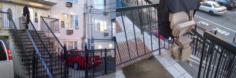 Straight Rail Exterior Stairlift