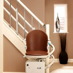 Indoor Stairlift With Brown Seat