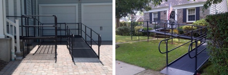 Black Wheelchair Ramp Outside House