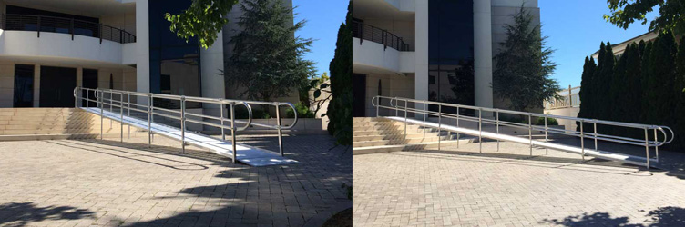 Commercial Wheelchair Ramp Outside Building
