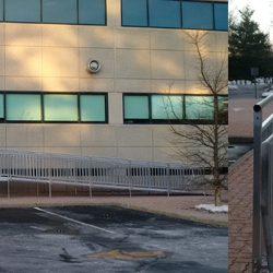 Close-Up and Distant Shot of Commercial Wheelchair Ramp