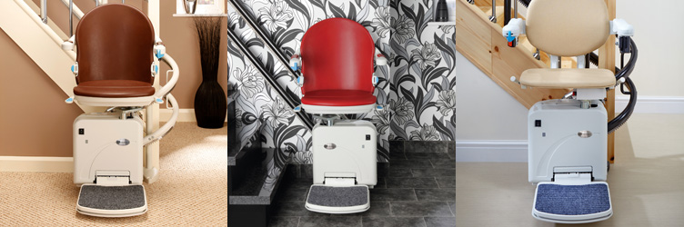 Stairlifts Seats in Brown, Red, and Beige