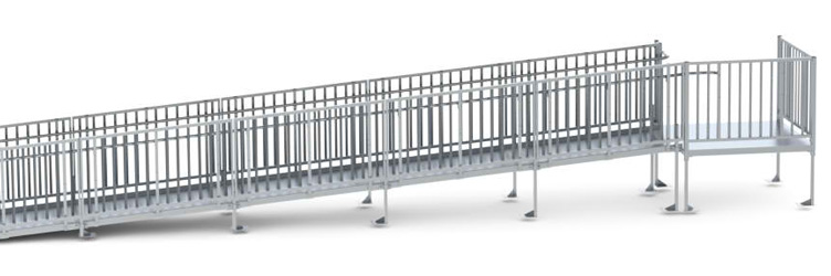 Free-standing Metal Wheelchair Ramp