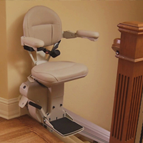 Close-up of Stairlift Seat