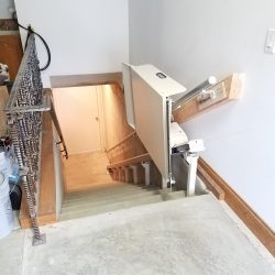 Incline Platform Lift on Staircase