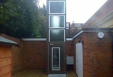 Exterior Enclosed Elevator