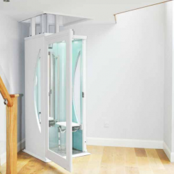 Interior Accessibility Elevator on Main Floor of Home