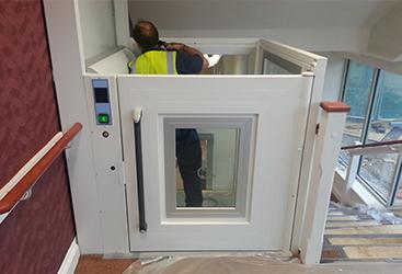 Interior Platform Lift Installation
