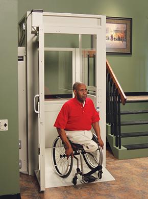 Man Leaving Residential Platform Lift