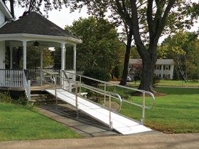 Wheelchair Ramp to Home Deck