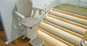 Curved Stairlift Inside Building