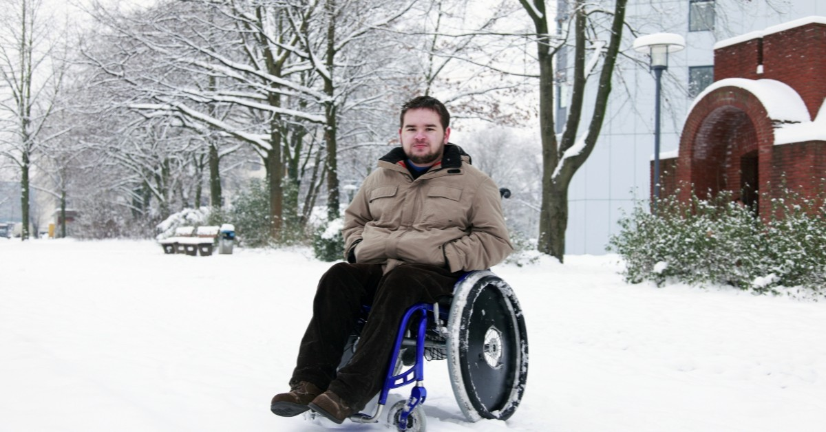 wheelchair in snow able care group nj